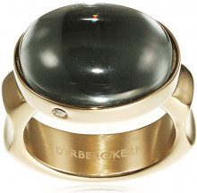 Dyrberg/Korn–Anello per donna 15/02Nella Iii Sg Grey parte placcato oro–337793, acciaio inossidabile, 57 (18.1), colore: grigio, cod. 337793