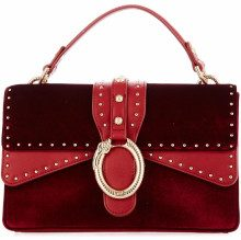 Borsa a mano in velluto Red