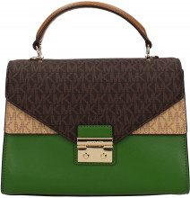Borse a Mano Michael Kors sloan md Donna Verde