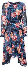 ESPRIT Collection 108eo1e010, Vestito Donna, Blu (Navy 400), 44 (Taglia Produttore: 38)