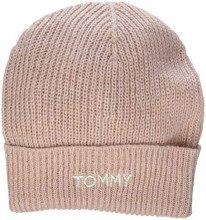 Tommy Hilfiger Effortless Knit Beanie, Cuffia Donna, Rosa (Silver Pink 655), Unica (Taglia Produttore: OS)