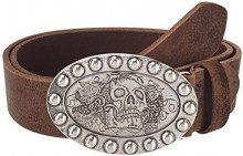 MGM - Cintura,, Marrone (Braun (braun geflammt 2)), 90 cm (Taglia produttore: 90)