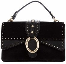 Borsa a mano in velluto Black