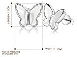 Kekexili-Orecchini a forma di farfalla, da donna, Set da compleanno per nonna-Set gioielli, ecc.