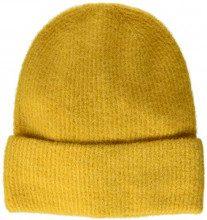PIECES Pcjosefine Wool Hood Noos, Cuffia Donna, Giallo Nugget Gold, Taglia Unica
