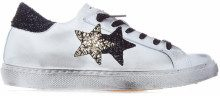 Sneaker in pelle effetto used White