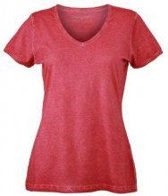 James & Nicholson - T-Shirt Ladies Gipsy, Camicia di maternità Donna, Rosso (Red), Large (Taglia Produttore: Large)