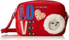 Love Moschino Borsa Pu - Borse a spalla Donna, Rosso, 6x14x20 cm (B x H T)