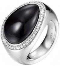 ESPRIT Collection–Anello da donna in argento Sterling 925rodiato con zirconi Nyxia nero-bianco taglia 57(18,1) S. elrg92032a180