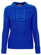 edc by Esprit 108cc1i005, Felpa Donna, Blu (Bright Blue 410), Large