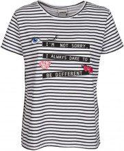 T-shirt a righe con stampa BRIGHT WHITE