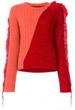 - Maison Margiela - Maglione a coste bicolore - women - lana - S, M - di colore rosso
