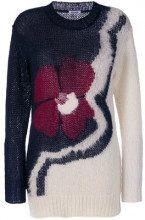 - P.A.R.O.S.H. - Maglione con fiore - women - Polyamide/Mohair/Wool - XS - di colore blu
