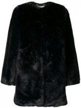 - Michael Michael Kors - Pelliccia ecologica midi - women - pelliccia sintetica/fibra sintetica - XS, S, M, L - di colore blu