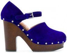 - L'Autre Chose - studded platform pumps - women - pelle scamosciata/gomma/pelle - 36, 40, 38, 37, 35, 39 - di colore blu