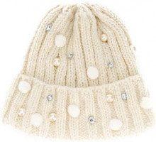 - Ca4la - embellished beanie hat - women - Nylon/Alpaca/Wool/Acrylic - Taglia Unica - Bianco