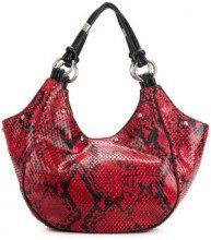 - Giorgio Armani Vintage - textured tote bag & pouch - women - Python Skin/Calf Leather/Acetate - Taglia Unica - Rosso