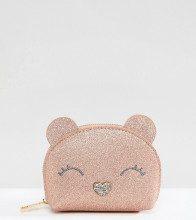 Gracie - Portamonete con orso glitterato