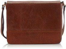Gerry Weber Lugano Flap Bag, Borsa a Tracolla Donna, Marrone (Cognac 703), 29x22x7 cm (B x H x T)