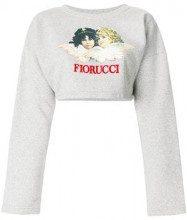 - Fiorucci - Felpa corta con logo - women - cotone - XS, S, M, L - di colore grigio