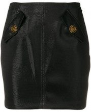 - Elisabetta Franchi - flap pockets skirt - women - fibra sintetica - 44, 46 - di colore nero