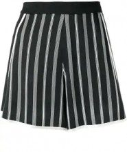 - Lanvin - striped shorts - women - viscose/Spandex/Elastane - 36 - Blu