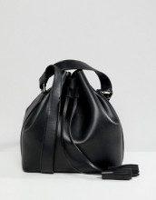 Borsa a sacco nera con borsa a tracolla