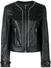 - La Carrie - cropped biker jacket - women - Polyester/Lamb Skin - 46, 40, 44 - Nero