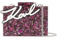 - Karl Lagerfeld - box clutch - women - acrilico - Taglia Unica - di colore rosa