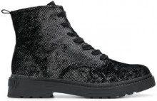 - Calvin Klein Jeans - Anfibi in twill - women - pelle/gomma/fibra sintetica - 37, 40, 38, 36, 41, 39 - di colore nero