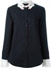 - Vivetta - Camicia con colletto ricamato - women - cotone - 42 - di colore nero