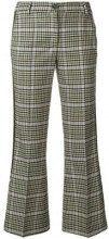 - P.A.R.O.S.H. - checked kickflare trousers - women - lana vergine/fibra sintetica - XXS, S, M, L - color carne
