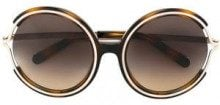 - Chloé Eyewear - Occhiali da sole 'Jayme' - women - Metal (Other)/Acetate - Taglia Unica - Marrone