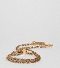ASOS DESIGN Curve - Bracciale oro con catenina e chiusura a T-bar