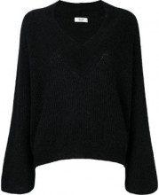 - Blugirl - loose fit ribbed jumper - women - fibra sintetica/mohair/alpaca - 44, 46 - di colore nero