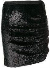 - Iro - sequinned mini skirt - women - rayon/fibra sintetica - 34 - di colore nero