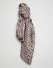 Sciarpa quadrata oversize in tweed a quadri