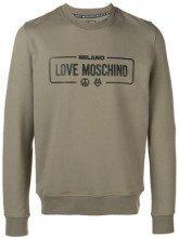 - Love Moschino - logo printed sweatshirt - men - Spandex/Elastane/Cotone - XL, M, L - Verde