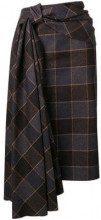 - Mulberry - pleated ribbon pencil skirt - women - Polyamide/Wool/viscose - 42, 38, 40 - Marrone
