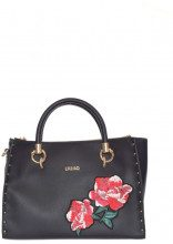 M satchel zip darsena embroide NERO