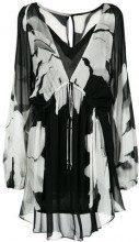- Osklen - Flower Torn dress - women - fibra sintetica - 40, 38 - di colore nero
