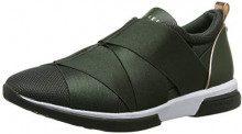 Ted Baker Queanem, Sneaker Infilare Donna, Verde (Green Grn), 38 EU