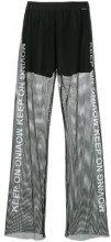- Marc Cain - Keep On mesh trousers - women - fibra sintetica - 40 - di colore nero