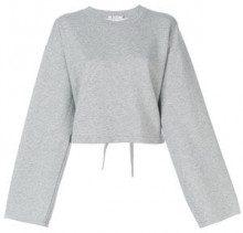 - T By Alexander Wang - Maglia crop - women - fibra sintetica/modal/cotone - S, M - di colore grigio