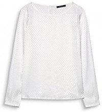 ESPRIT Collection 117eo1f002, Camicia Donna, Bianco (Off White 110), 40