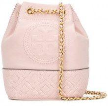 - Tory Burch - Borsa a secchiello Flemming mini - women - nappa - Taglia Unica - di colore rosa