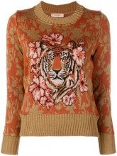 - Twin - Set - Tiger jumper - women - lana/acrilico - XS , XL - di colore arancione