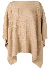 - Polo Ralph Lauren - Poncho in maglia - women - lana merino/cashmere - M, S - color carne