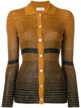 - Wales Bonner - Cardigan a righe aderente - women - fibra sintetica - XS, S, M - di colore arancione