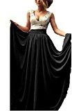 Babyonline® - Maxi abito da donna, lungo, stile anni '20, con paillette, per feste